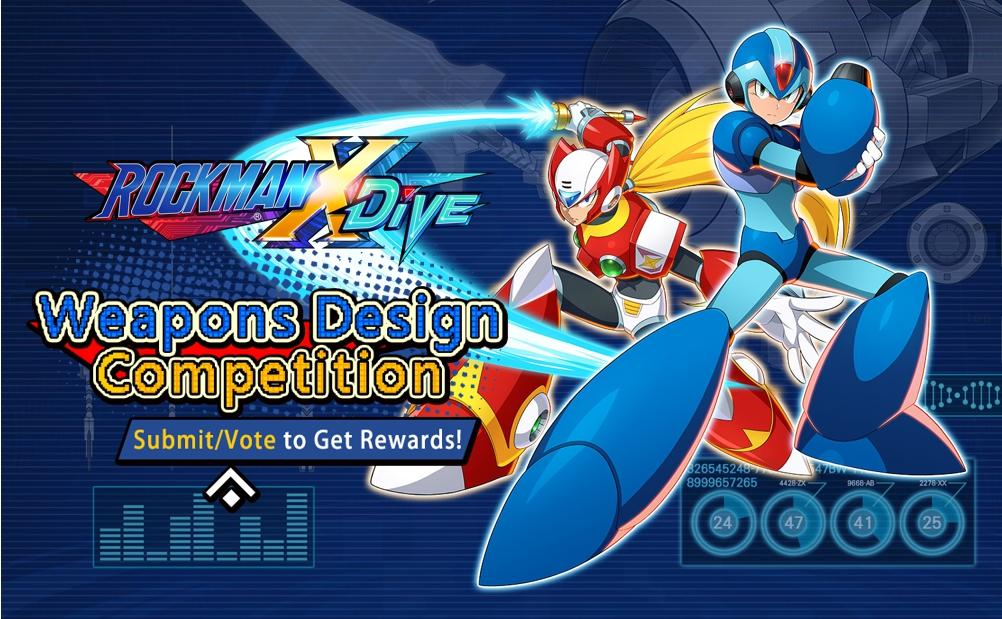 Join the Mega Man X DiVE Weapons Design Competition for a chance to win special rewards