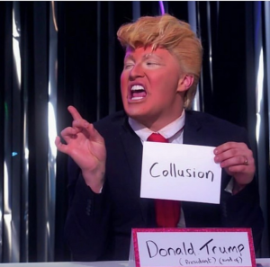 The Vivienne iconic Donald Trump impersonation in the Snatch Game.