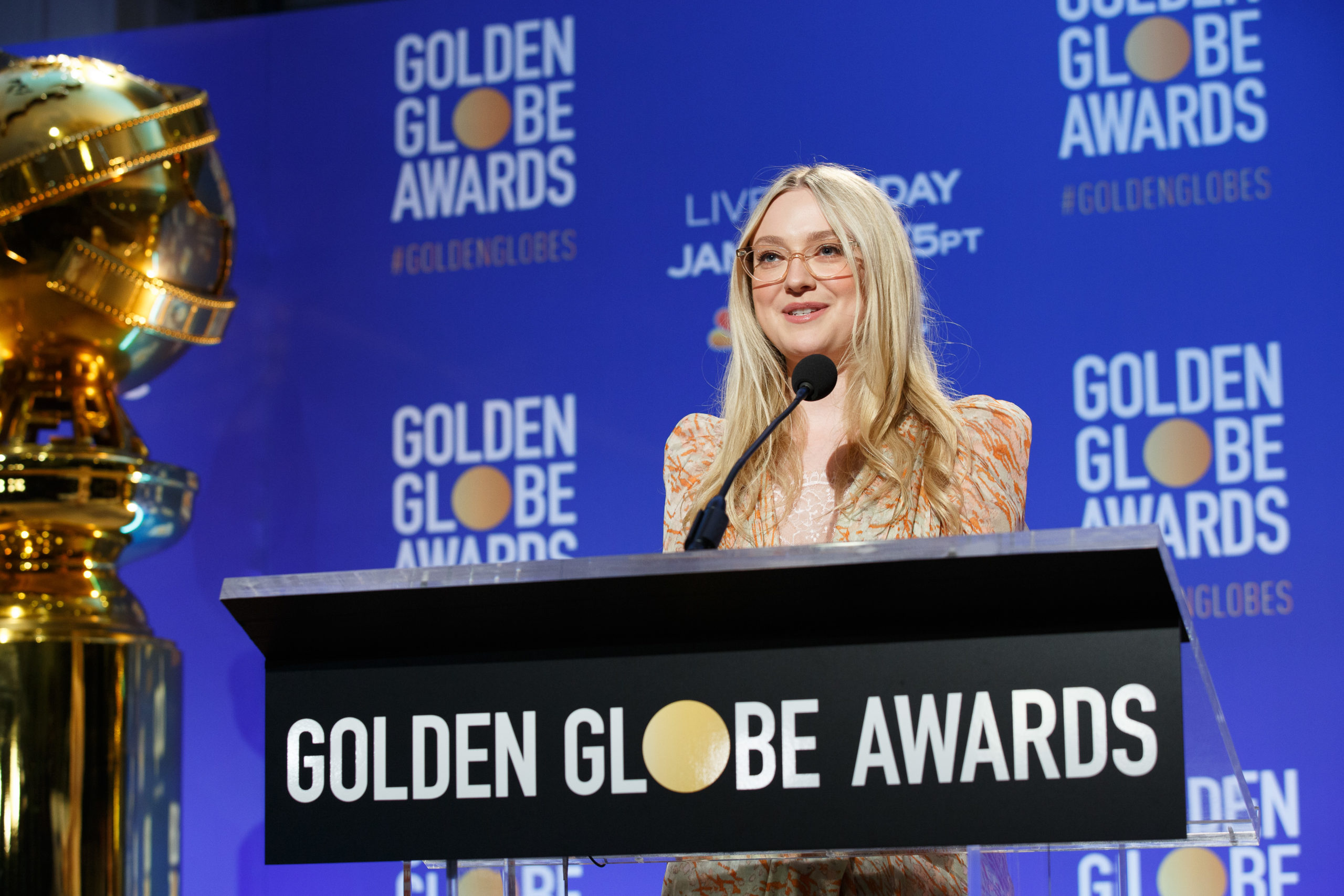 Dakota Fanning at the 77th annual Golden Globe Awards nominations on Monday December 9, 2019 from the Beverly Hilton Hotel in Beverly Hills, CA.