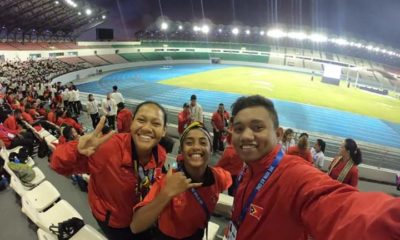 2019 SEA Games Delegates from East Timor during the opening ceremony on November 30, 2019.