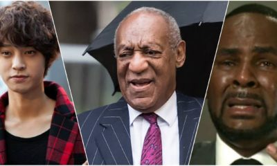 From the left: Jung Joon-yung, Bill Cosby, and R. Kelly.