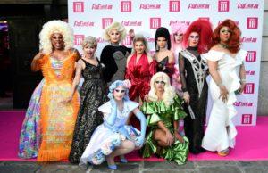 Rupaul's Drag Race UK Season 1 queens.