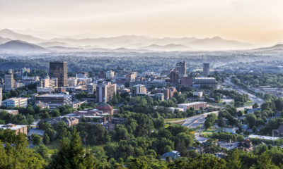 The skyline of downtown Asheville, North Carolina