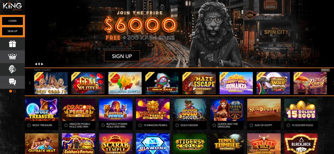 King Johnnie - Online Casino